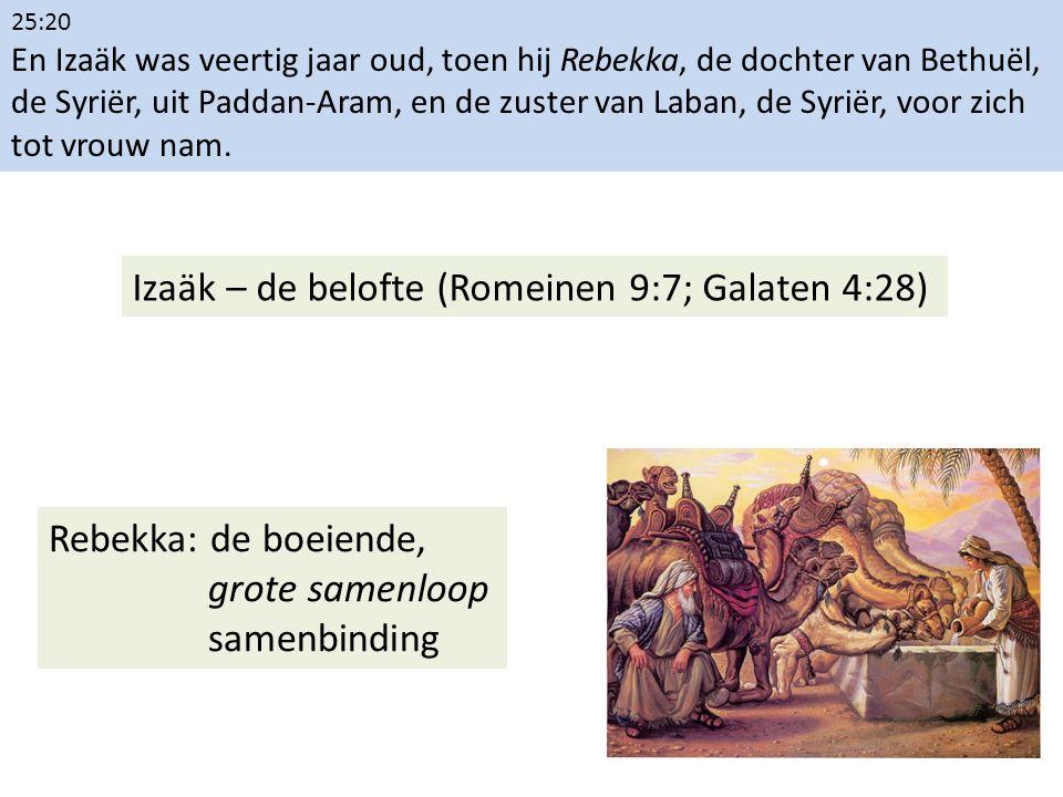 25:20 En Izaäk was veertig jaar oud, toen hij Rebekka, de dochter van Bethuël, de Syriër, uit Paddan-Aram, en de zuster van Laban, de Syriër, voor zic