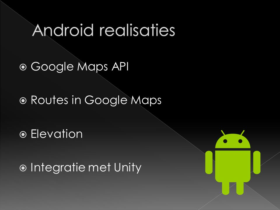  Google Maps API  Routes in Google Maps  Elevation  Integratie met Unity