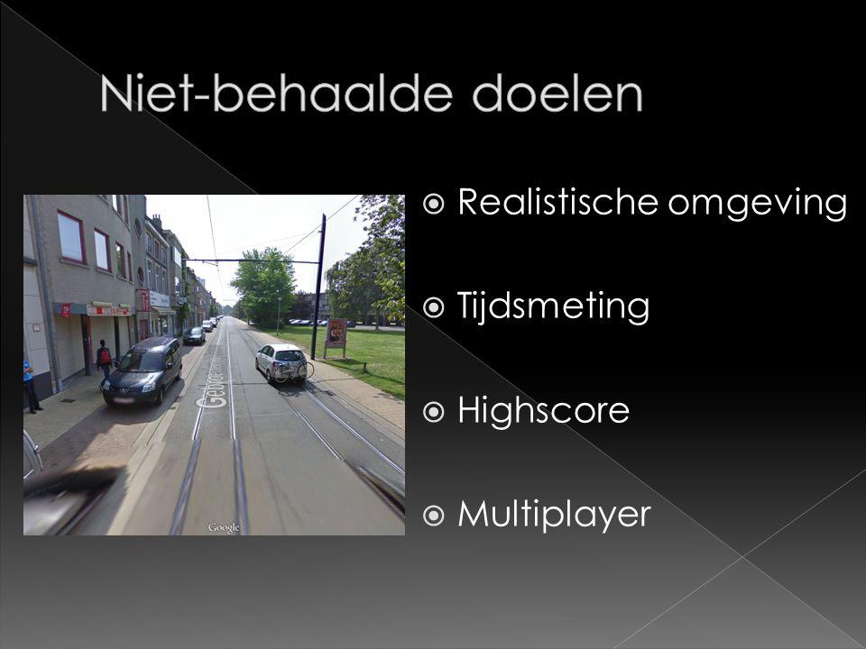  Realistische omgeving  Tijdsmeting  Highscore  Multiplayer