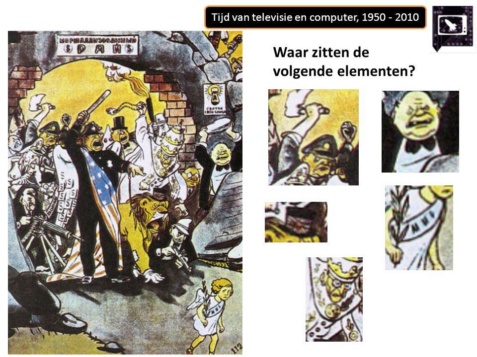 Tijd van televisie en computer, 1950 - 2010 Waar zitten de volgende elementen?