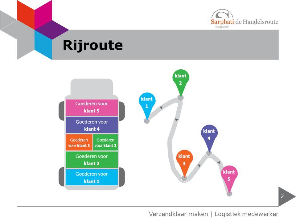 Rijroute 2 Verzendklaar maken | Logistiek medewerker
