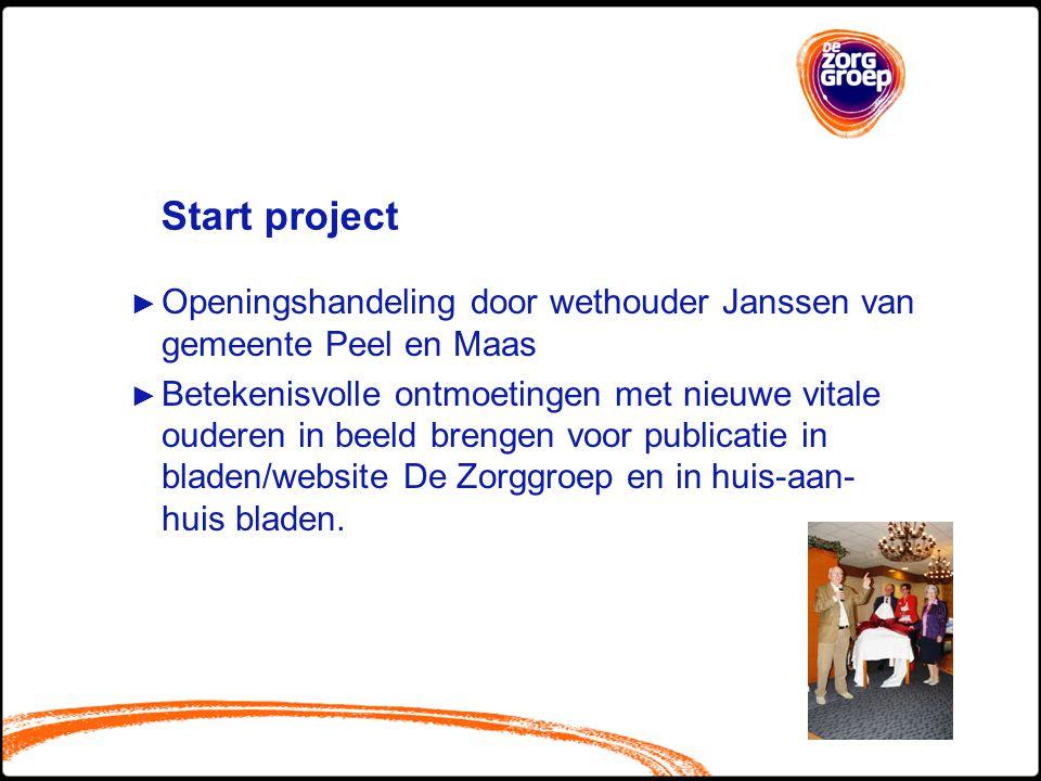 Start project ► Openingshandeling door wethouder Janssen van gemeente Peel en Maas ► Betekenisvolle ontmoetingen met nieuwe vitale ouderen in beeld br
