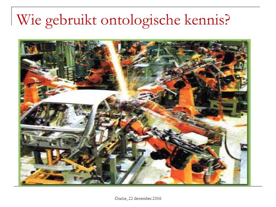 Oratie, 22 december 2006 Wie gebruikt ontologische kennis?