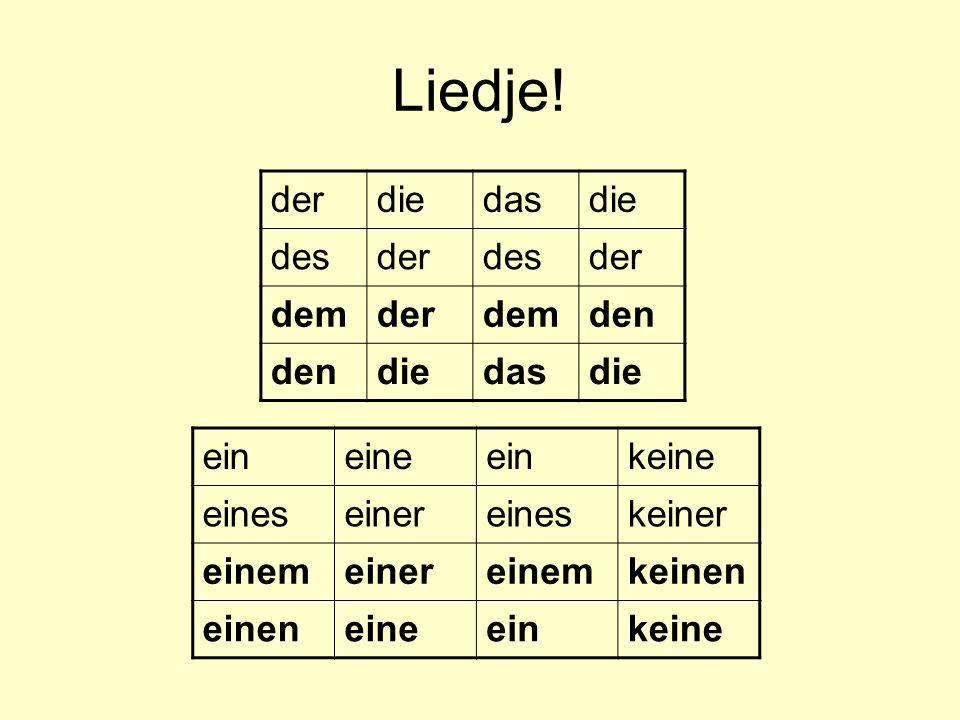 Geslachten van znw Geleerd Regels: –(m): mannelijk persoon/dier, dagen, maanden en seizoenen –(v): woorden die eindigen op -heit, -keit, -schaft, -ung, -tät, -ion, -e en alle getallen.