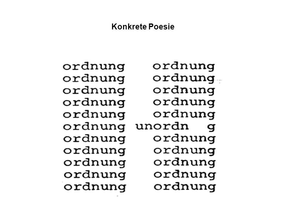 Konkrete Poesie