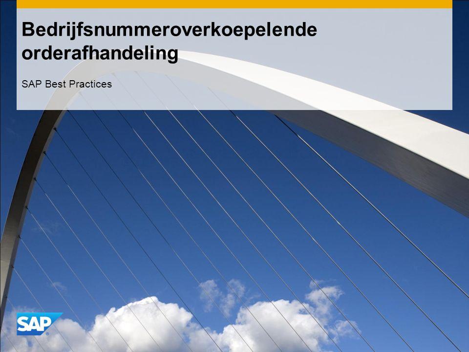 Bedrijfsnummeroverkoepelende orderafhandeling SAP Best Practices