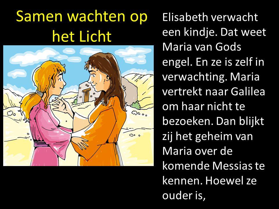 Samen wachten op het Licht Elisabeth verwacht een kindje. Dat weet Maria van Gods engel. En ze is zelf in verwachting. Maria vertrekt naar Galilea om