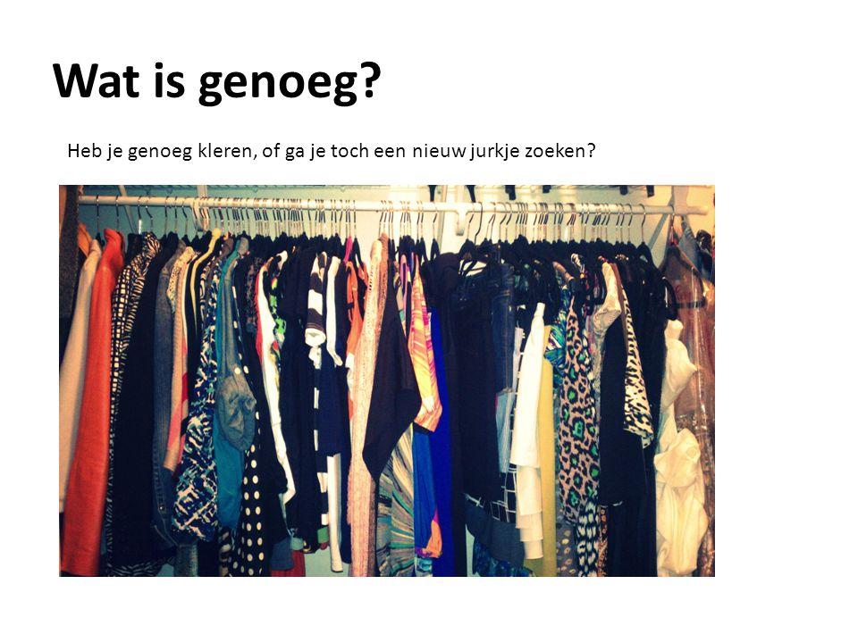 Wat is genoeg? Heb je genoeg kleren, of ga je toch een nieuw jurkje zoeken?