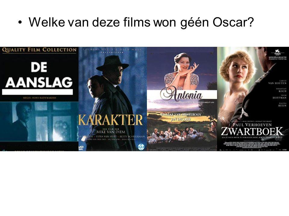 Welke van deze films won géén Oscar?