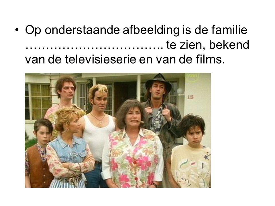 Op onderstaande afbeelding is de familie ……………………………. te zien, bekend van de televisieserie en van de films.
