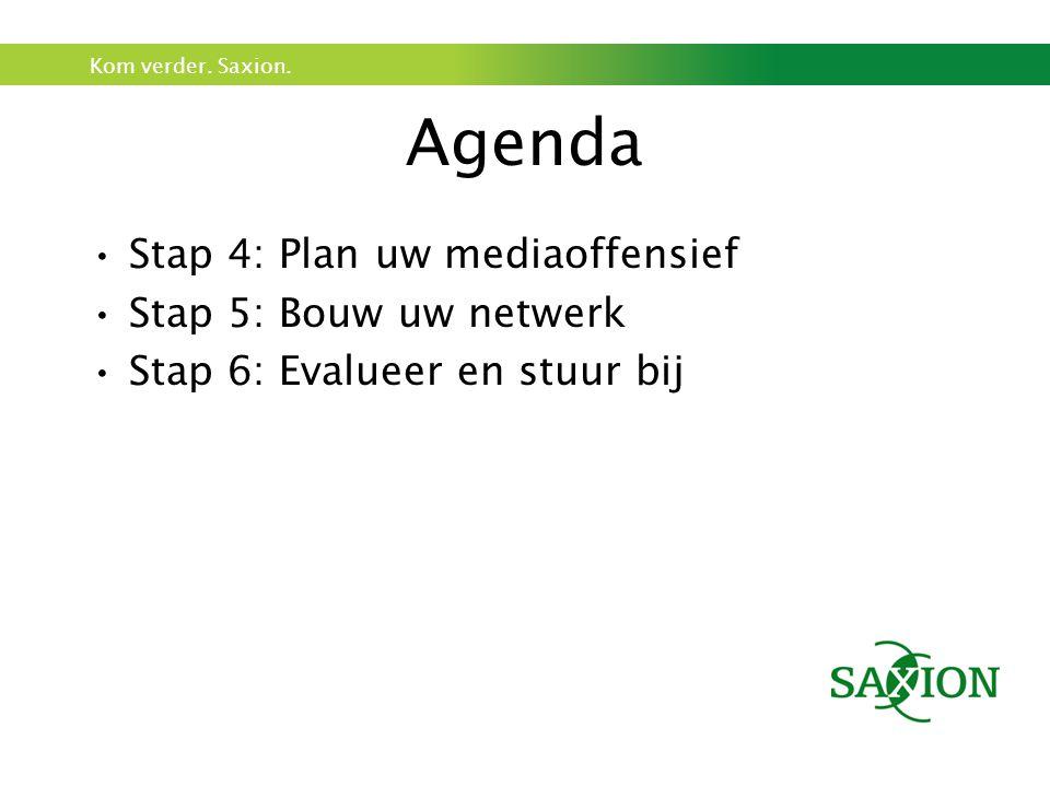 Kom verder. Saxion. Stap 4: Plan uw Media offensief! Welk social Media platform kiest u?