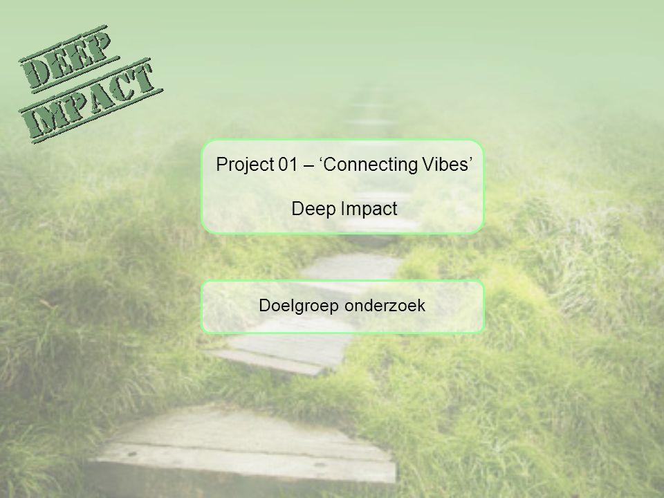 Project 01 – 'Connecting Vibes' Deep Impact Doelgroep onderzoek
