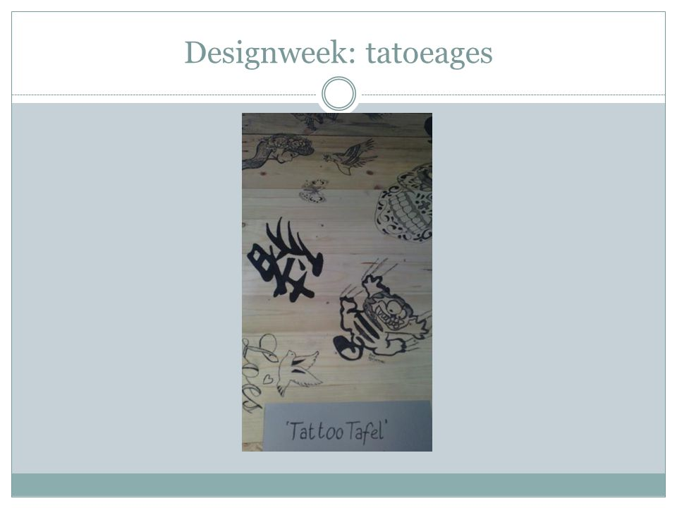 Designweek: tatoeages