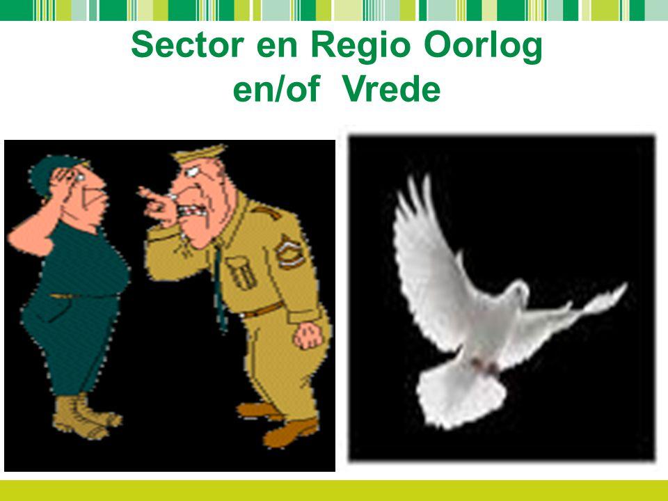 Sector en Regio Oorlog en/of Vrede.