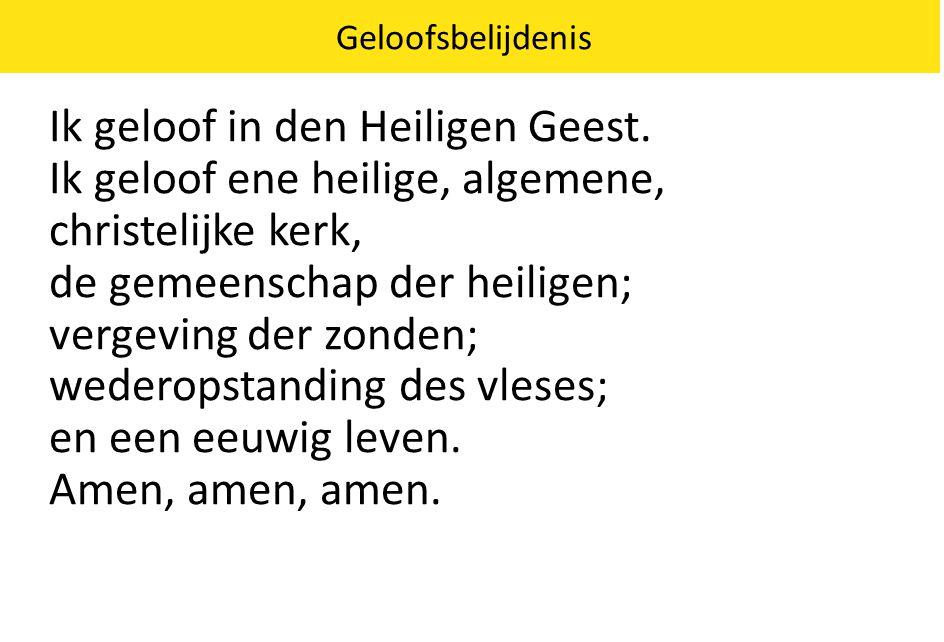 Ik geloof in den Heiligen Geest.