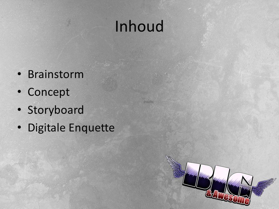 Inhoud Brainstorm Concept Storyboard Digitale Enquette