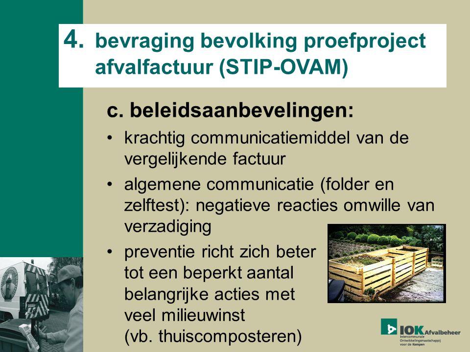 4. bevraging bevolking proefproject afvalfactuur (STIP-OVAM) c.