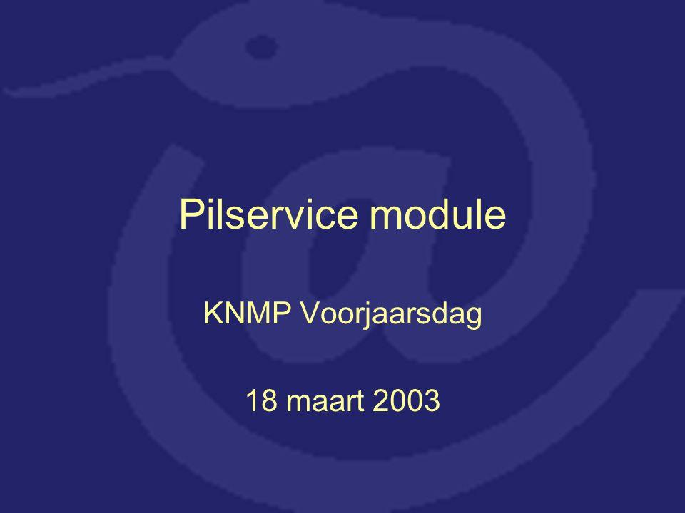 Pilservice module KNMP Voorjaarsdag 18 maart 2003