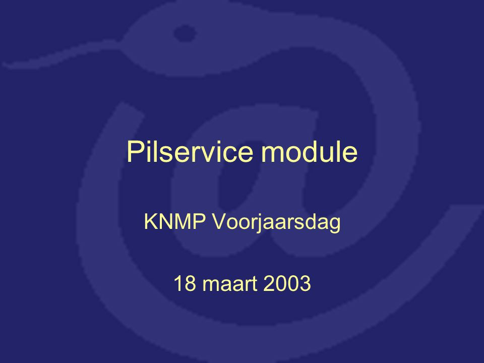 Wat is de Pilservice module.