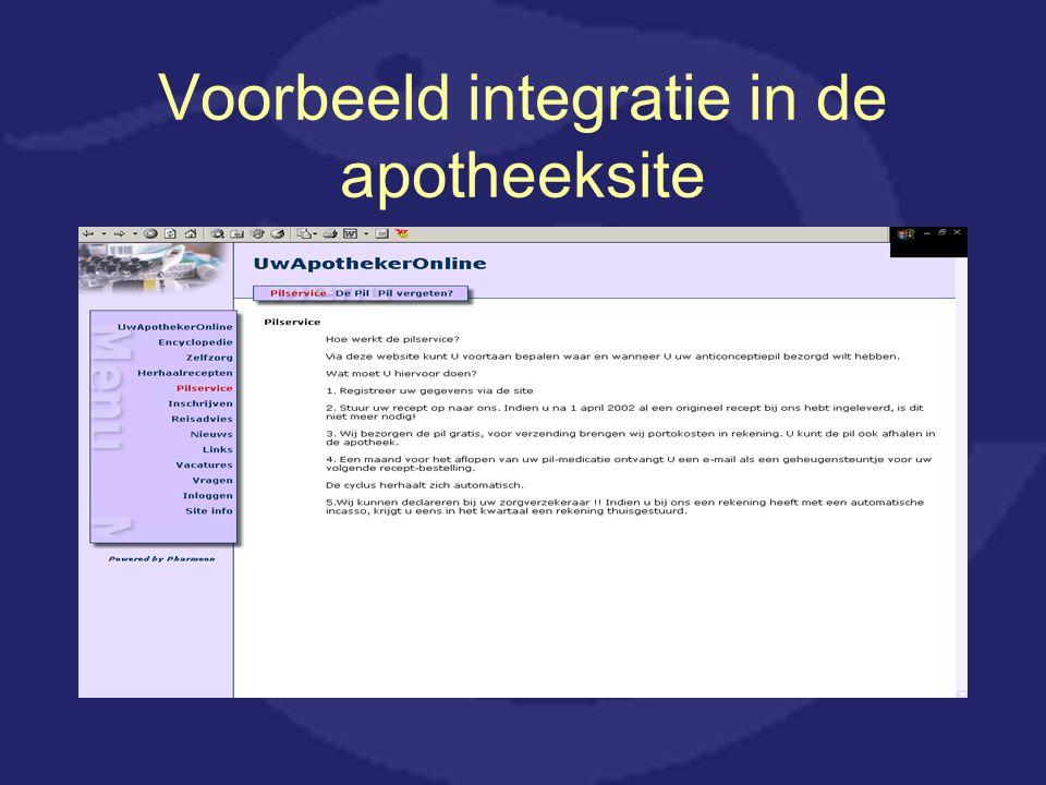 Voorbeeld integratie in de apotheeksite