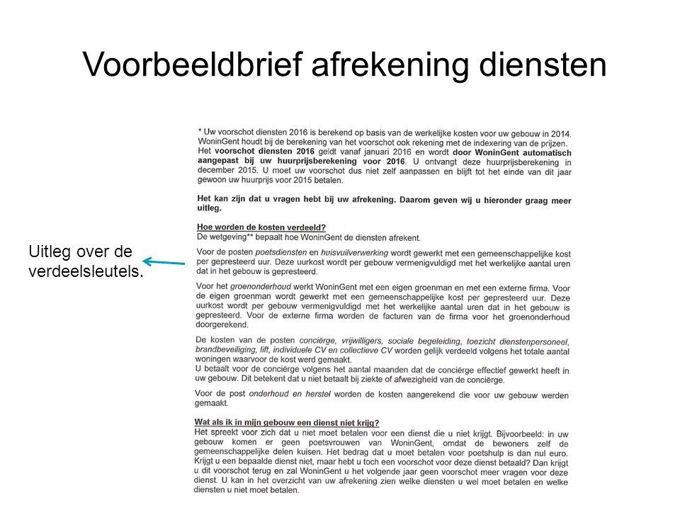 39 Voorbeeldbrief afrekening diensten Uitleg over de verdeelsleutels.