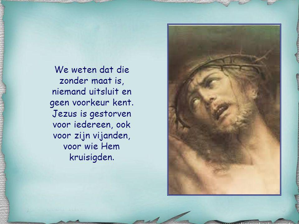 Wat is de maat van Jezus' liefde, waarnaar onze liefde zich moet richten?