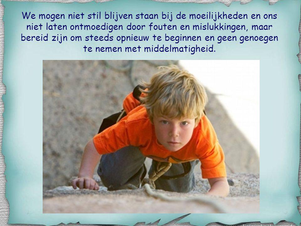 Hij spreekt over het groeien van kinderen naar volwassenheid (vgl. 1 Kor. 3,1-2), de bouw van een huis, de wedloop in een stadion voor de verovering v