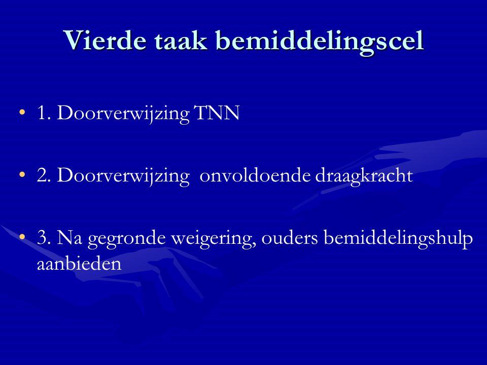 Vierde taak bemiddelingscel 1. Doorverwijzing TNN 2.