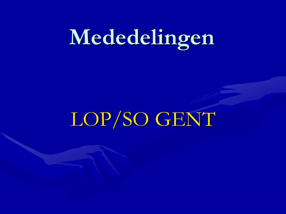 Mededelingen LOP/SO GENT
