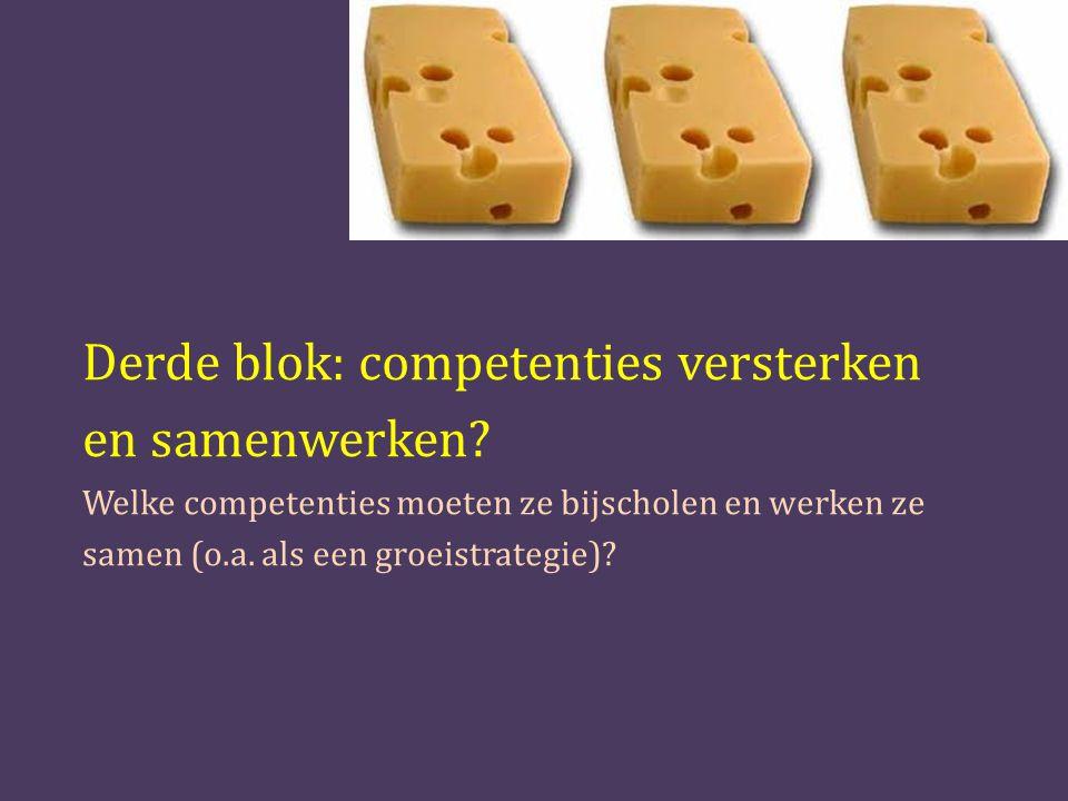 Derde blok: competenties versterken en samenwerken.