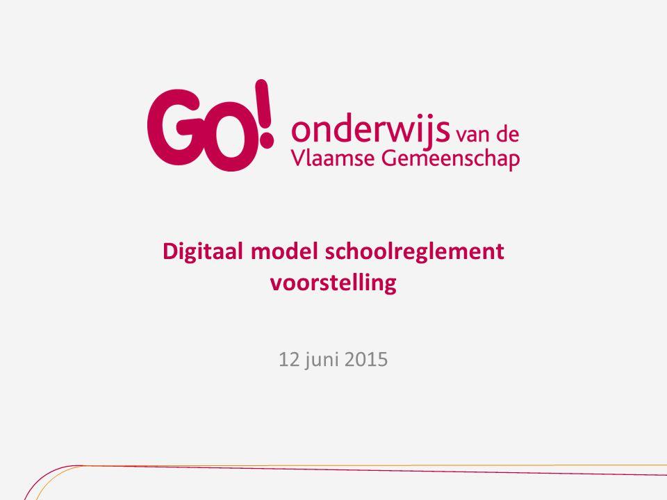 Digitaal model schoolreglement voorstelling 12 juni 2015