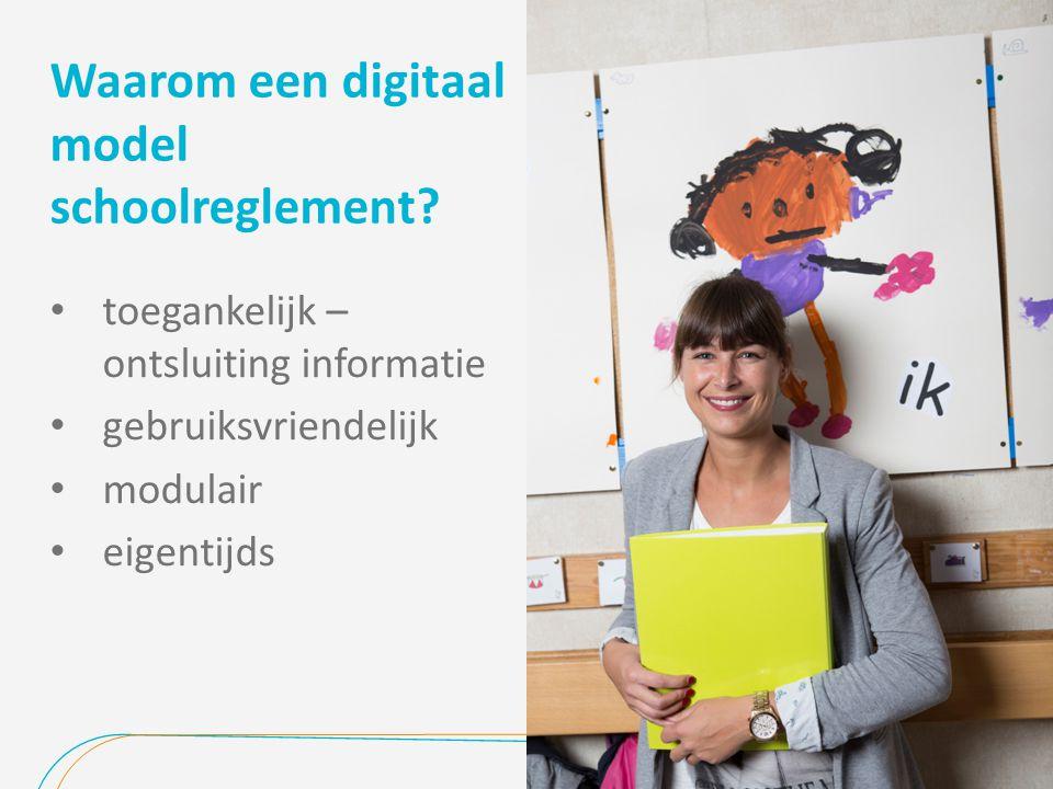 Waarom een digitaal model schoolreglement.
