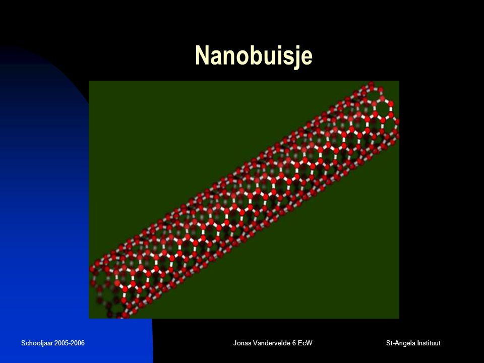 Schooljaar 2005-2006Jonas Vandervelde 6 EcW St-Angela Instituut Nanobuisje