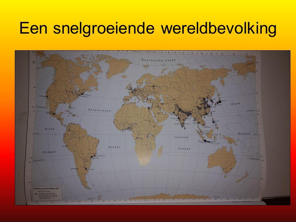 Een snelgroeiende wereldbevolking