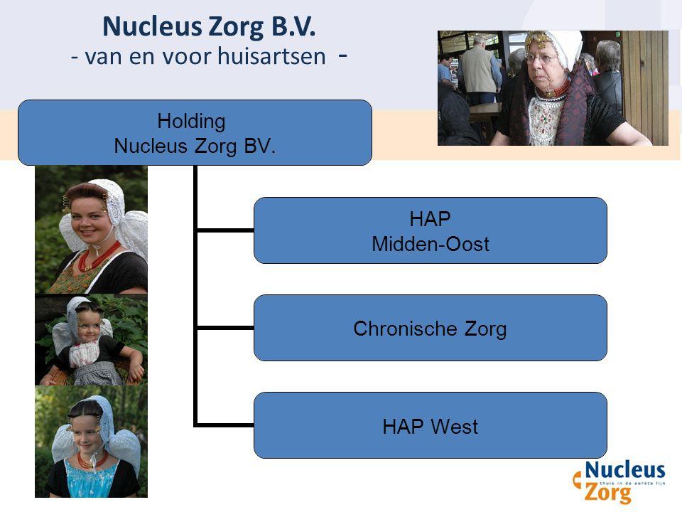 Nucleus Zorg B.V. - van en voor huisartsen - Holding Nucleus Zorg BV. HAP Midden-Oost Chronische Zorg HAP West