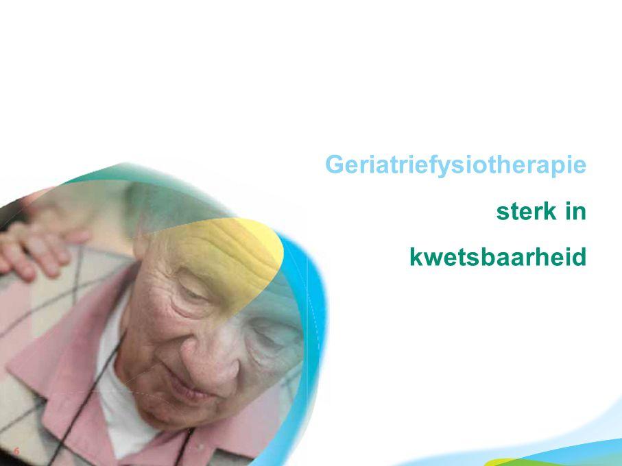 Geriatriefysiotherapie sterk in kwetsbaarheid