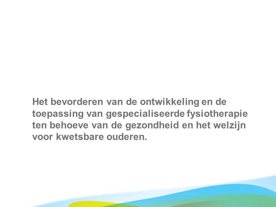 371 geriatriefysiotherapeuten in Nederland 2 opleidingen