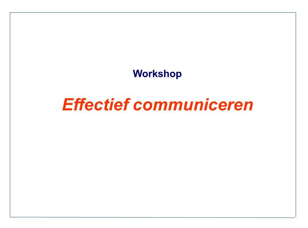 Workshop Effectief communiceren
