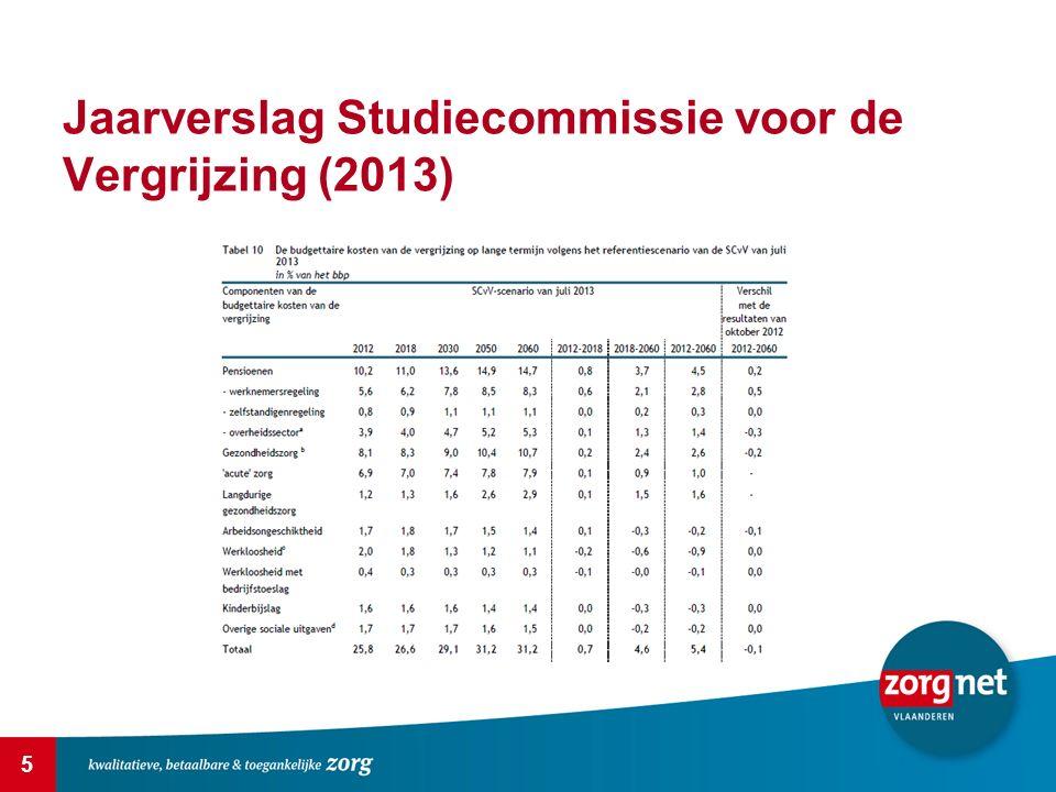 5 Jaarverslag Studiecommissie voor de Vergrijzing (2013)