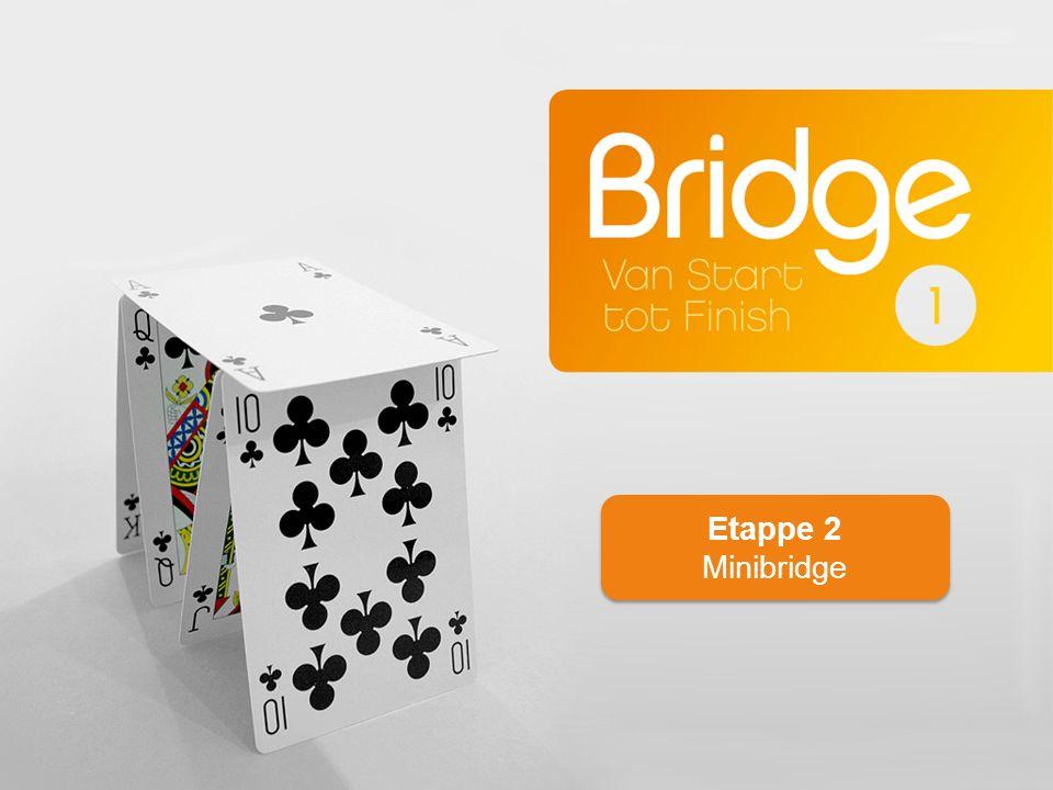 Wie wordt de leider Speelsoort bepalen Uitkomen en spelen Eerste richtlijnen voor het spelen en tegenspelen Etappe 2: Minibridge 2 1e2 v3.0