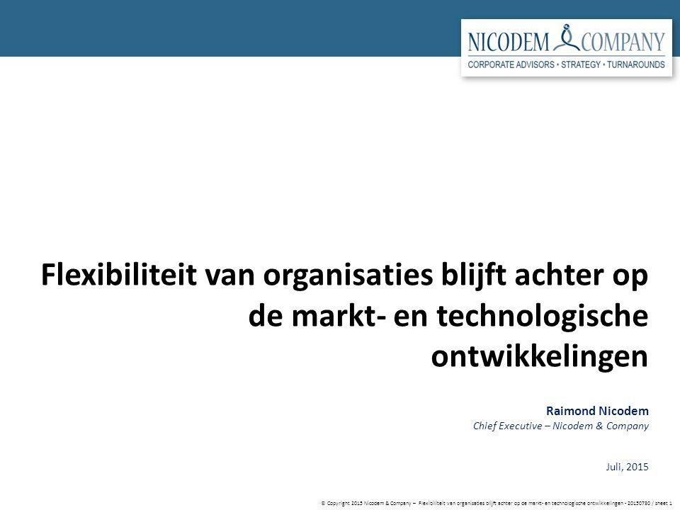 © Copyright 2015 Nicodem & Company – Flexibiliteit van organisaties blijft achter op de markt- en technologische ontwikkelingen - 20150730 / sheet 1 F