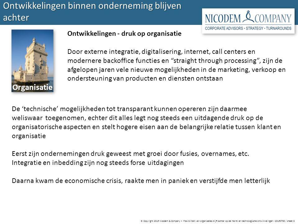 © Copyright 2015 Nicodem & Company – Flexibiliteit van organisaties blijft achter op de markt- en technologische ontwikkelingen - 20150730 / sheet 3 O