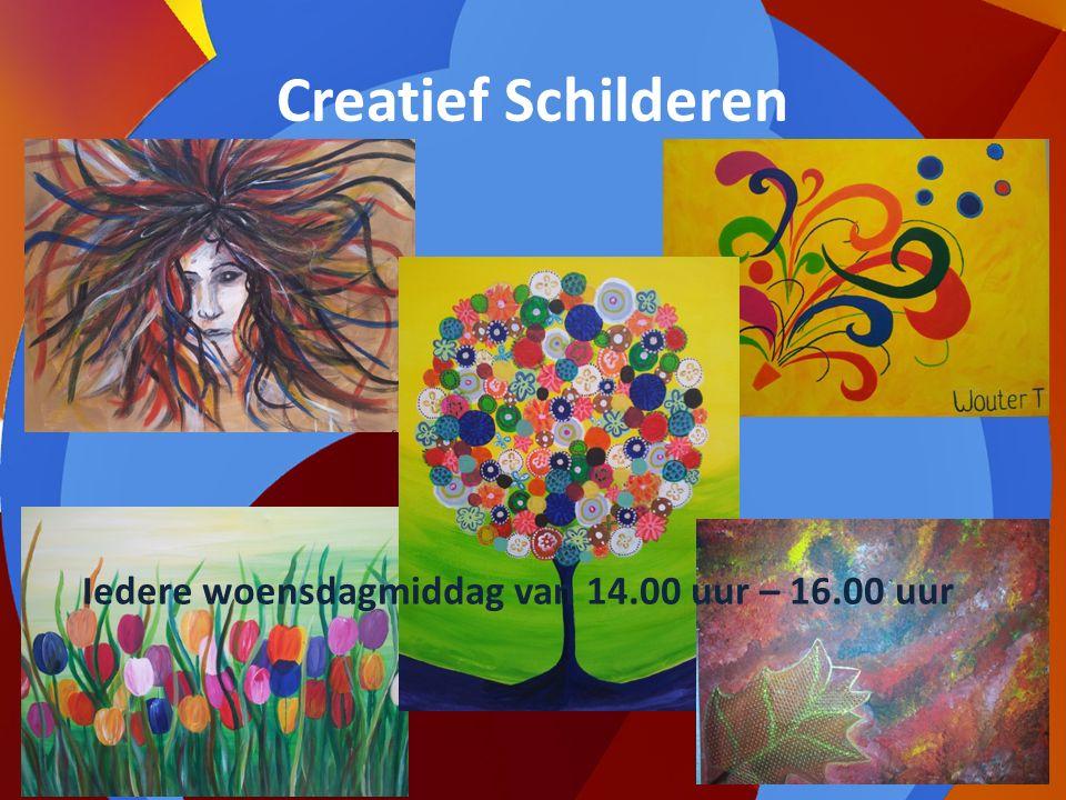 Creatief Schilderen Iedere woensdagmiddag van 14.00 uur – 16.00 uur