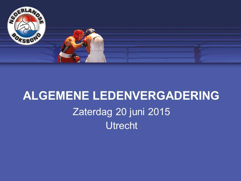 ALGEMENE LEDENVERGADERING Zaterdag 20 juni 2015 Utrecht