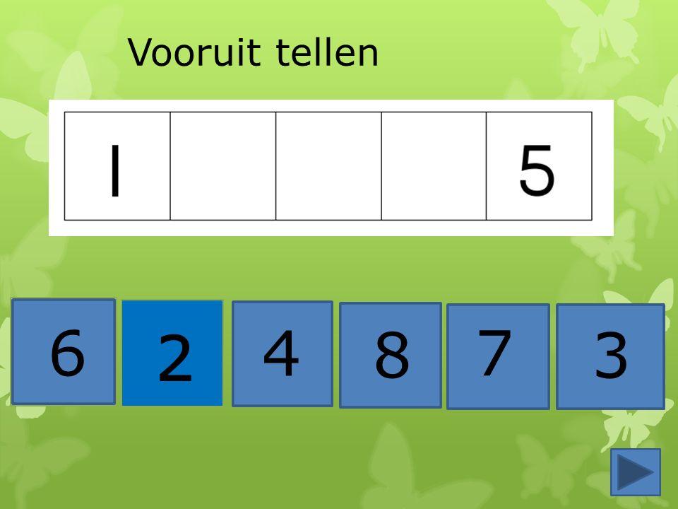 4 8 1 7 3 2 Nu terug tellen….