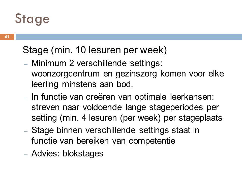 Stage 41 Stage (min.