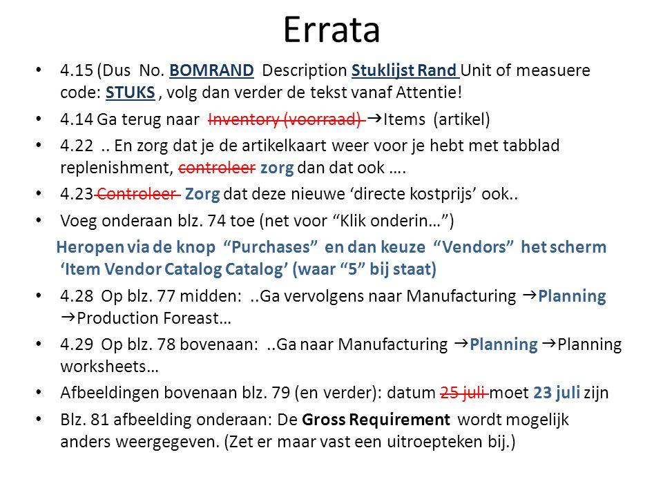 Errata 4.15 (Dus No.
