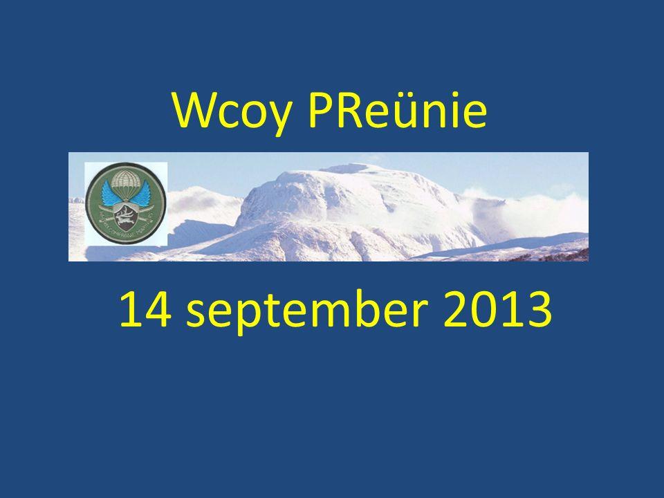 Wcoy PReünie 14 september 2013