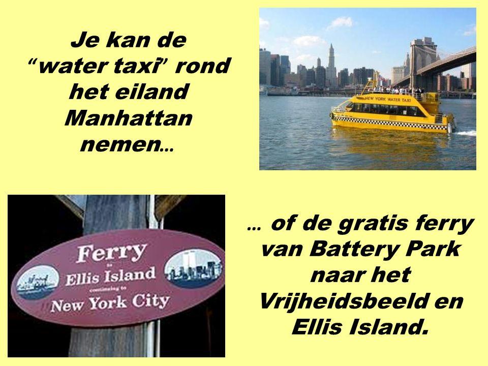 """… met bussen of in een taxi. Hier worden taxi ' s """" cabs """" genoemd."""