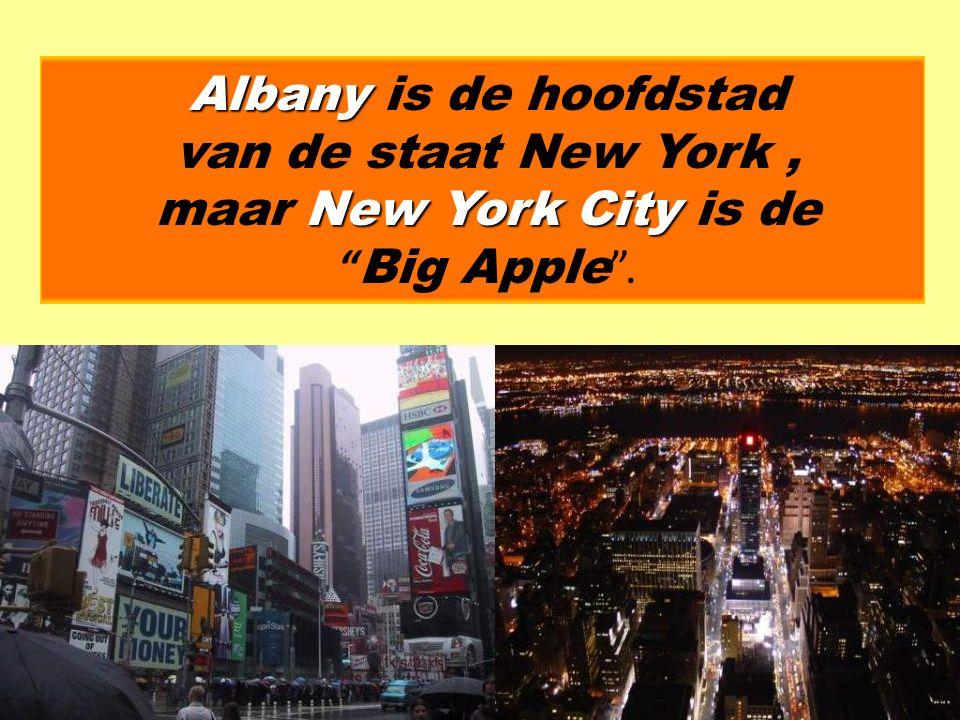 Albany New YorkCity Albany is de hoofdstad van de staat New York, maar New York City is de Big Apple .